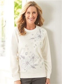 Embroidered Fleece Jumper