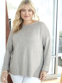 3/4 Sleeve Sweater [PLUS SIZE]