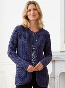 Thermal Cable Knit Cardigan