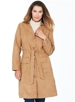Suedette Coat