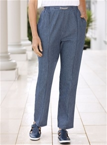 Pinstripe Denim Pants