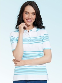 Stripe Short Sleeve Polo