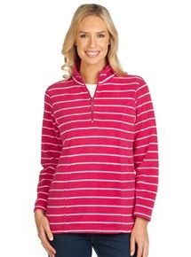 Stripe Microfleece Sweatshirt