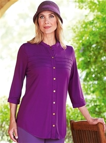 Pleated Jersey Tunic
