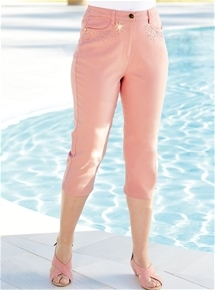 Diamante Stretch Capris