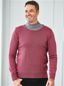 Mens Thermal Crew Neck Sweater