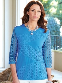Spliced Eyelet Tunic