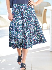 Blossoms Knit Skirt