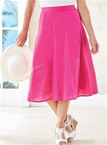 Pleated Cotton Skirt