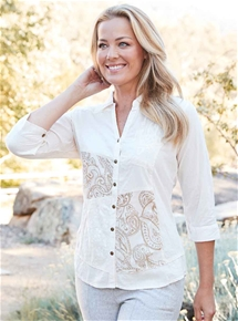 Embroidered Mix N Match Blouse
