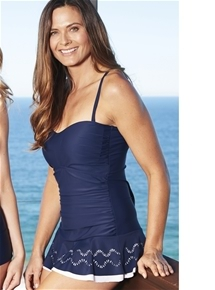Cut-Out Hem Swimdress