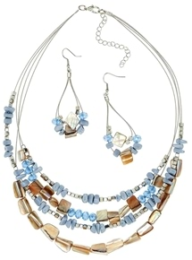 Florence Bead Necklace & Earring Set