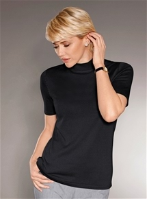 Short Sleeve Mock Turtleneck