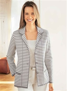Relaxed Knit Blazer