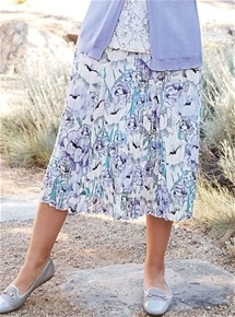 Crushed Floral Skirt