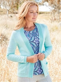 Pleated Edge Cardigan
