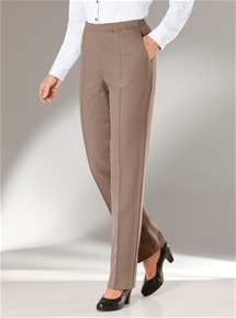 Textured Pull On Pant