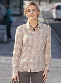 Soft Check Blouse