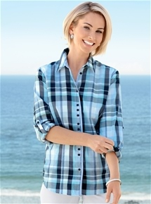 Seaside Check Blouse