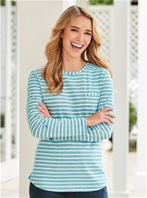 Weekend Long Sleeve Stripe Tee