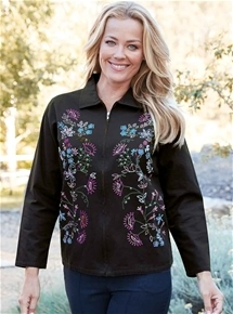 Embellished Zip Front Jacket