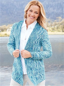Marine Waterfall Cardigan