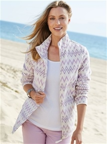 Zig Zag Fleece Jacket
