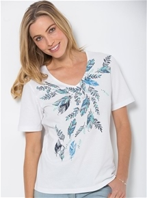 Feather Print Tee