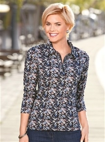 Embellished Ditzy Floral Polo