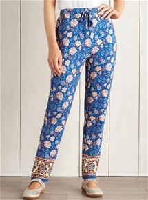 Pull-On Printed Pants