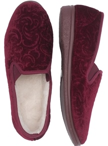 Paisley Velour Slippers