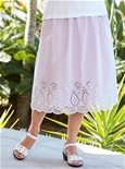 Embroidered Cotton Skirt_15A85_0