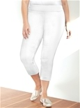 Pull On 3/4 Stretch Pant [PLUS SIZE]_17Y06_0