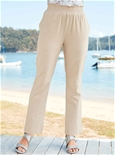 Cotton Shirred Trousers_18A06_0