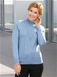 Cable Mock Turtle Neck Long Sleeve_18Q46_0
