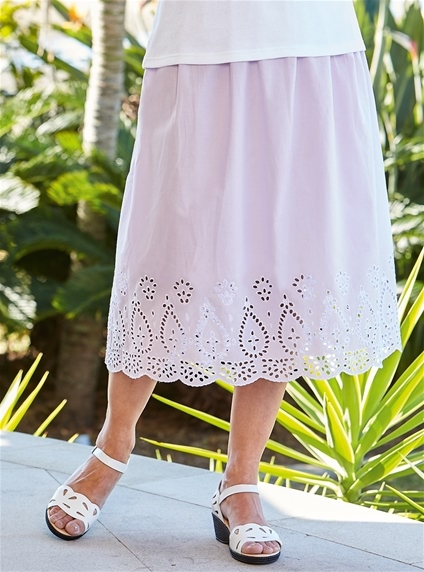 Embroidered Cotton Skirt